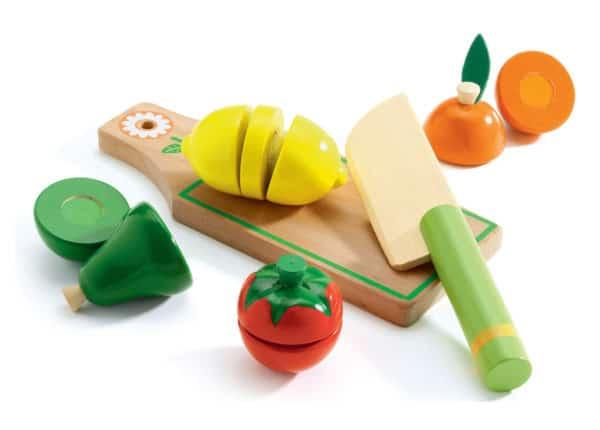 Djeco wooden fruit and veg baby equipment rental