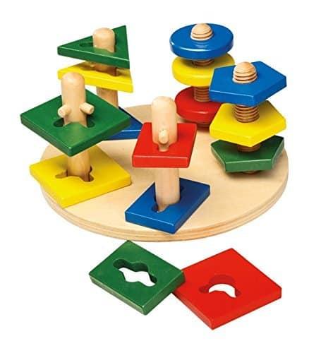 Wooden montessori puzzle baby spullen huren Ibiza