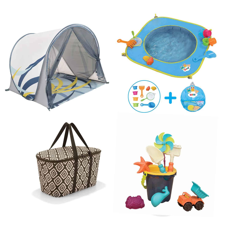 Peekaboo Ibiza baby equipment rental beach package
