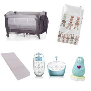 Peekaboo Ibiza baby equipment hire sleepy time cot package