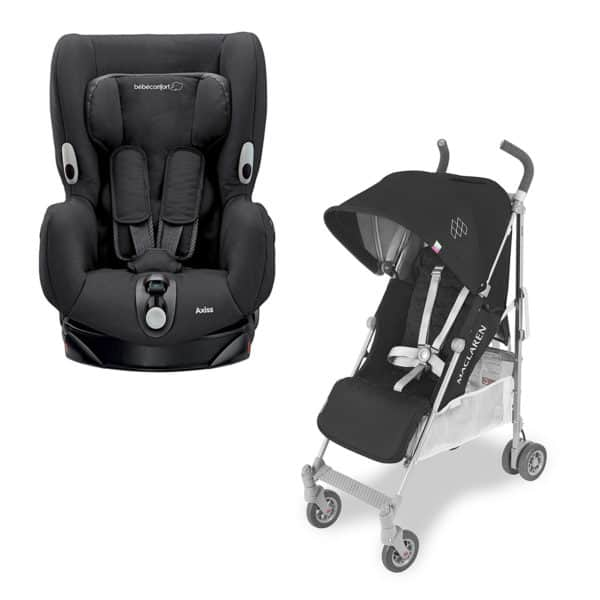 Baby equipment hire Ibiza buggy and car seat package I