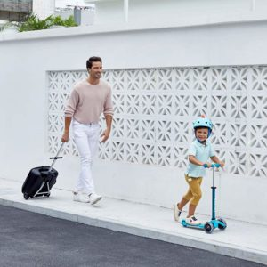 Micro deluxe scooter for hire Ibiza